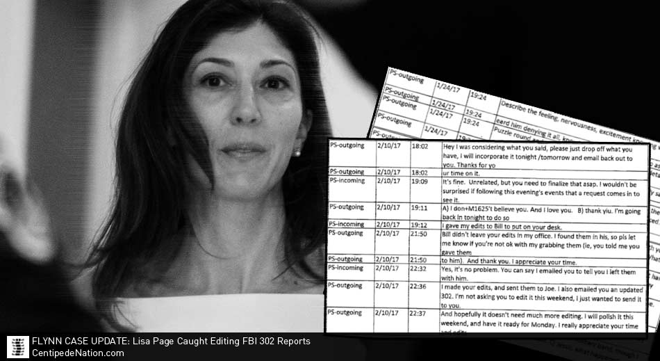 Flynn Case Update: Lisa Page Caught Editing FBI 302 Reports & Lying About It