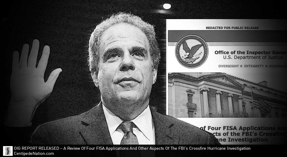 OIG Report Released – A Review of Four FISA Applications and Other Aspects of the FBI's Crossfire Hurricane Investigation