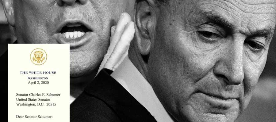 Letter from President Donald J. Trump to Senator Cryin' Chuck Schumer…